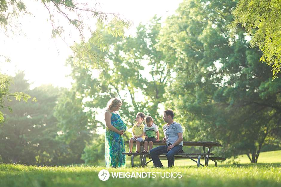 Shawnee Mission Park Maternity Family Pictures / Hermann Family
